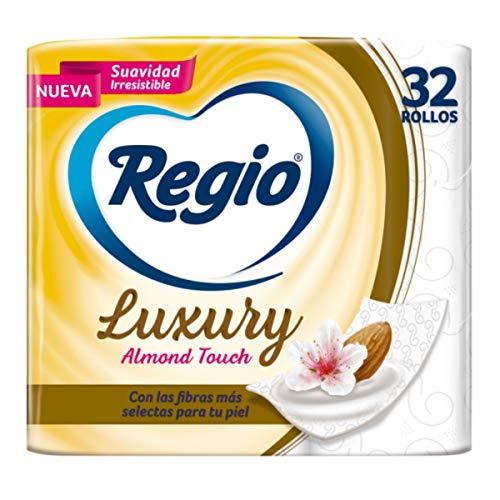 Amazon: Regio Papel Higiénico Luxury Almond Touch; Ligero Aroma A Almendras Y Hojas Dobles; Marca Regio 32 Rollos,