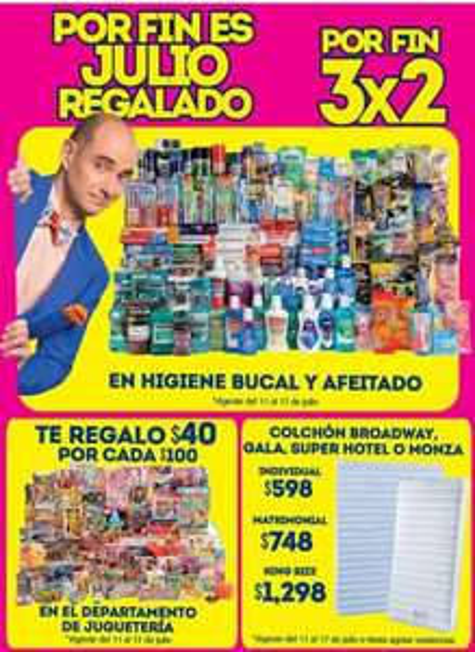 Julio Regalado en La Comer: ofertas en juguetes, colchones, afeitado e higiene bucal