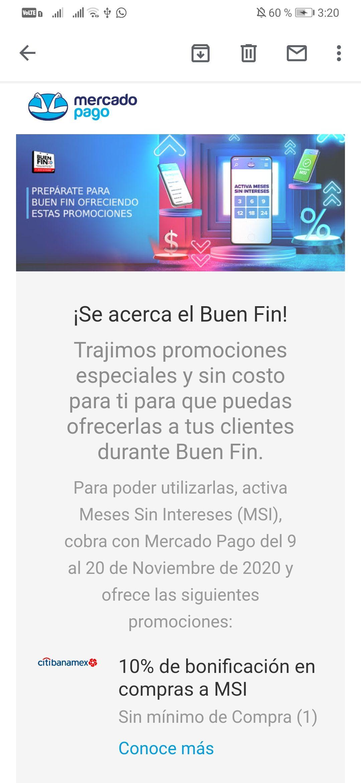 Promociones Buen Fin 2020 Mercado pago: Promociones bancarias Banamex, BBVA, Santander, BanorteHSBC
