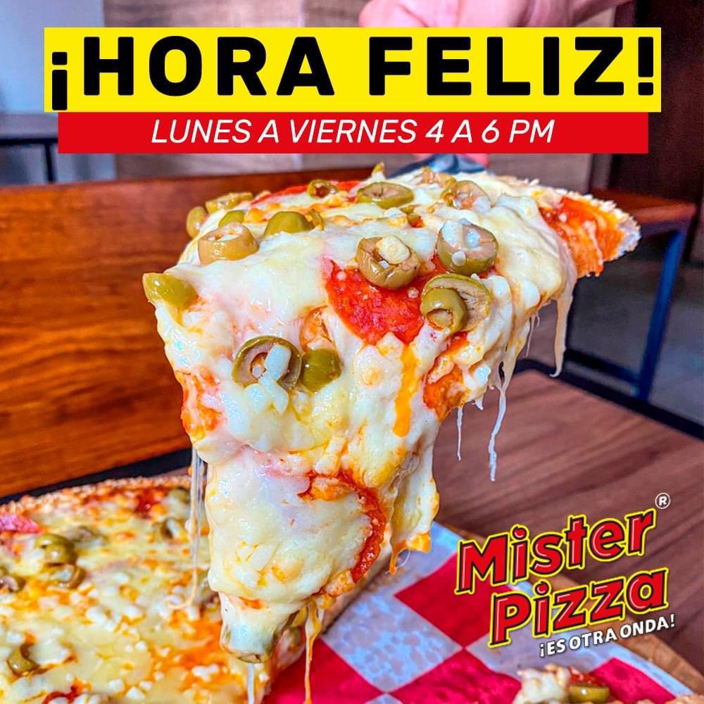(NUEVO LEÓN) Mister Pizza | 2x1 en Pizza de Medio Kilo de Queso (Todo noviembre de L-V en horario de 4pm a 6pm)