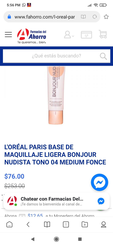 Farmacia del ahorro: L'ORÉAL PARIS BASE DE MAQUILLAJE