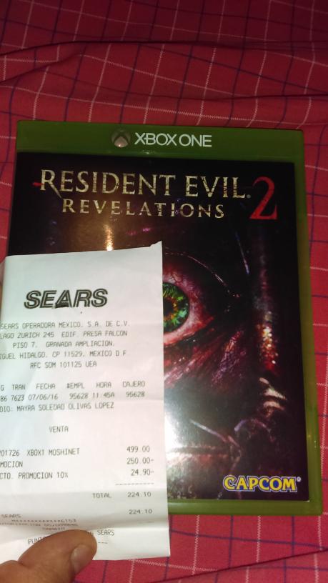 Sears: Resident Evil Revelations 2 a $224