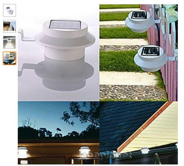 Amazon: lámpara solar para exteriores a $49.37