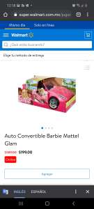 Walmart: Auto convertible barbie