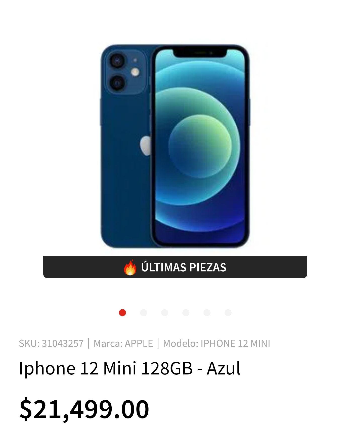 Elektra: iPhone 12 mini 128 GB BBVA Wallet