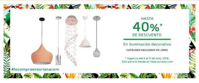 Soriana en línea: hasta 40% de descuento en iluminación decorativa
