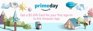 Amazon USA. Gift card de $5 USD por instalar app.