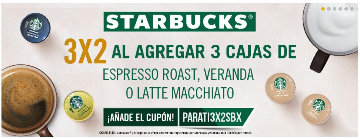 Dolce Gusto: cupon 3x2 para capsulas Starbucks