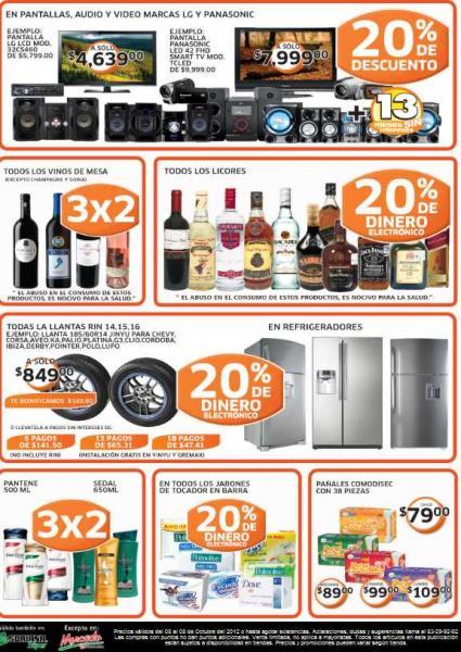 Soriana: 20% de bonificación en licores, llantas y refrigeradores, descuentos en TVs y más
