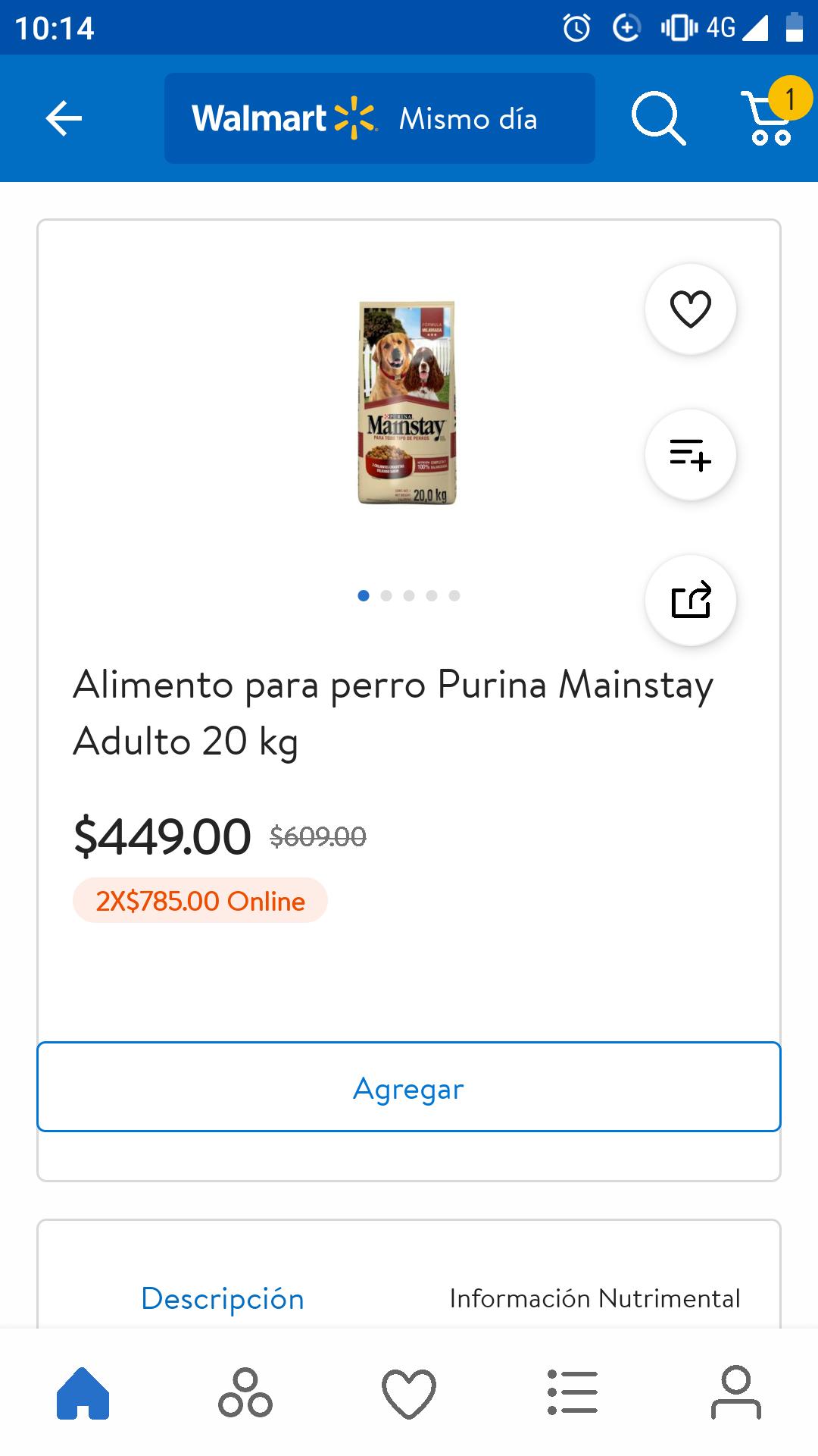 Walmart: Croquetas para perro Purina Mainstay Adulto 20 kg 2x$785