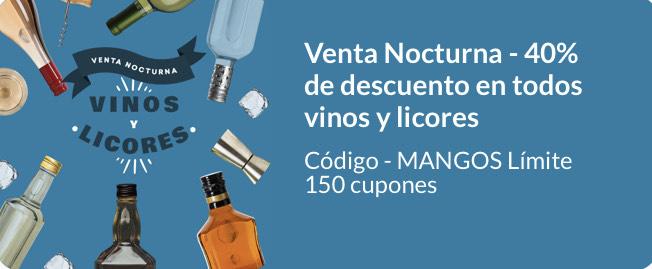 Jüsto Venta Nocturna: 40% de descuento en todos los vinos y licores con cupón