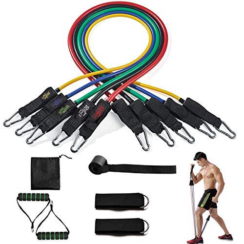 Amazon: TYC Juego de Bandas de Resistencia 11pcs Set de Bandas Elasticas Fitness para Ejercicio