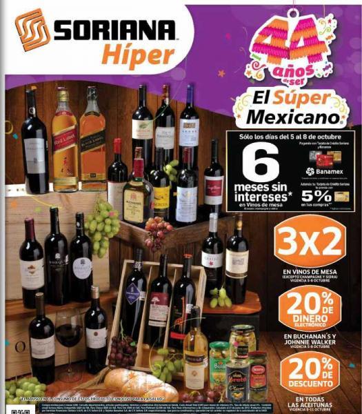 Folleto Soriana: 3x2 en rastrillos, vinos de mesa, shampoo Pantene y más