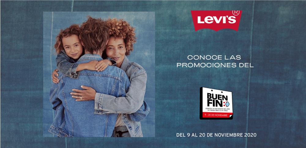 Ofertas Buen Fin 2020 Levi's: Descuentos escalonados hasta 40% y Tiendas Participantes