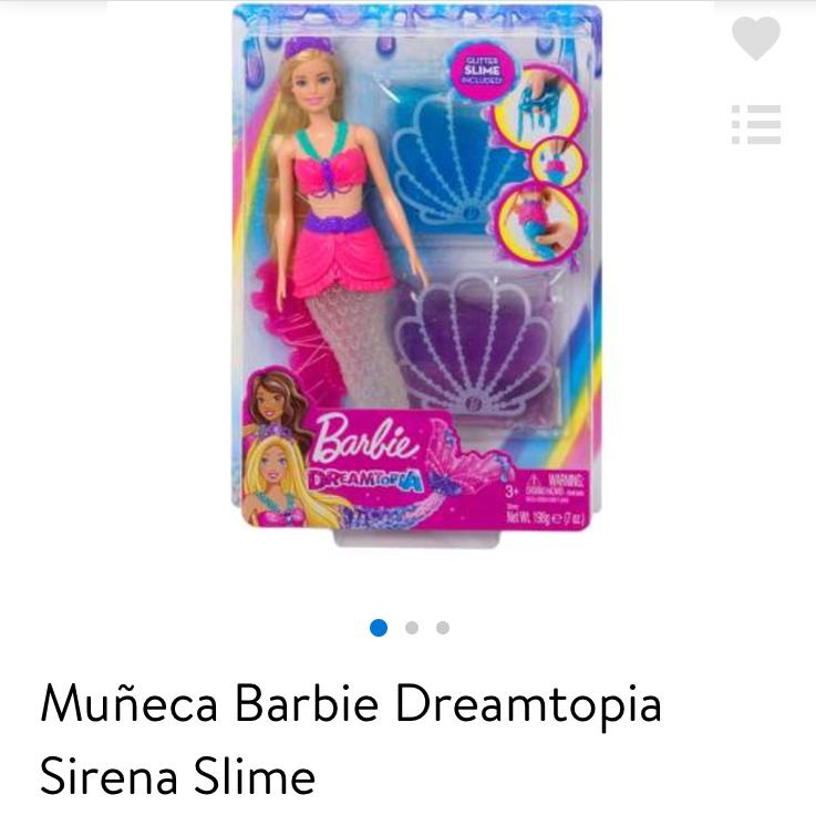 Walmart: Muñeca Barbie Dreamtopia Sirena Slime