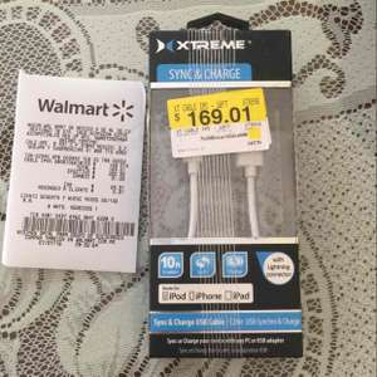 Walmart: Cable USB LIGHTNING 3 metros a $169.01