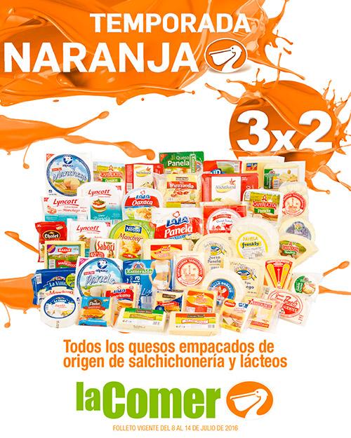 La Comer: Folleto Temporada Naranja (antes Julio Regalado) del 8 al 14 de Julio + 2x1 en papelería