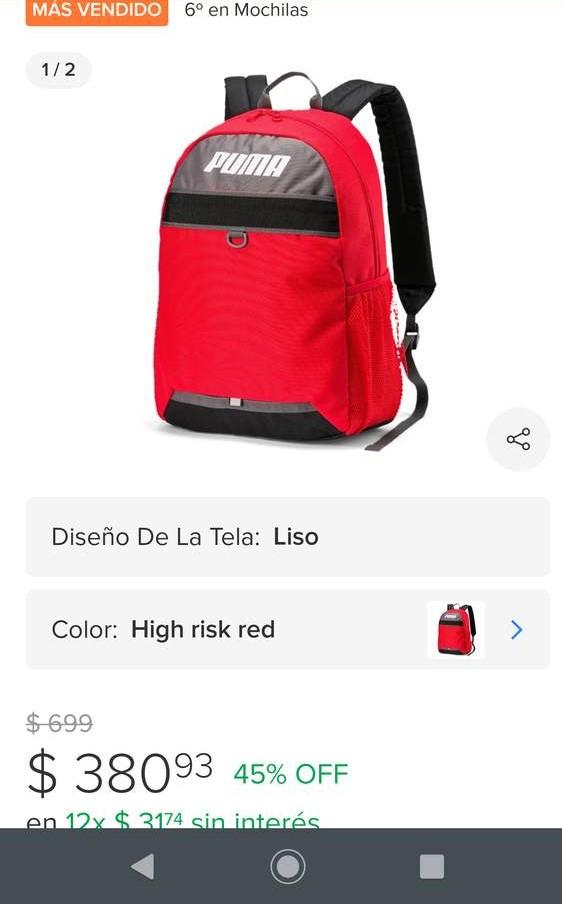 Mercado Libre: Plus Backpack mochila puma unisex