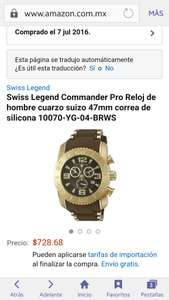 Amazon : Reloj Swiss Legend Commander Pro  cuarzo suizo