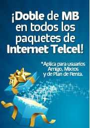 Telcel: doble de MB en todos los paquetes de Internet Telcel