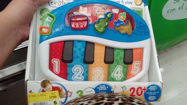 Walmart Aguascalientes: piano para bebes Baby Einstein a $60.01