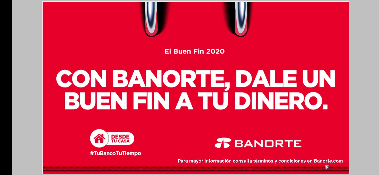 BANORTE buen fin 2020: TODAS las ofertas (crédito, débito, crédito hipotecario, inversiones)