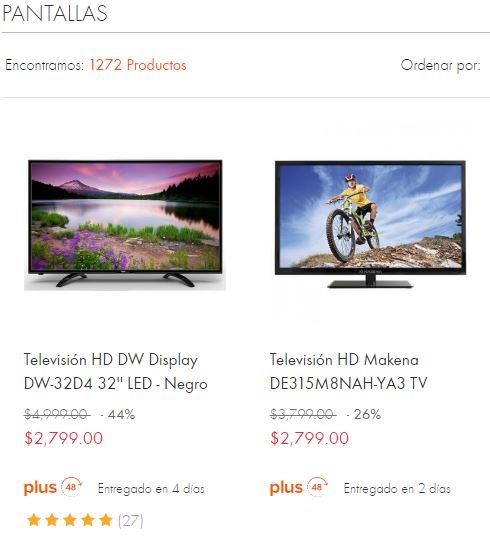 """Linio: TVs de 32"""" marcas Daewoo y Makena rebajados a $2,799 pesos"""