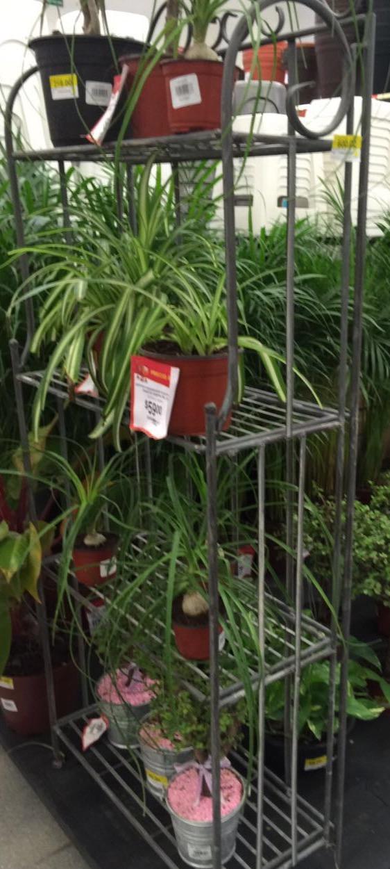 Walmart: liquidación de estante de jardin metálico de $1,299 a $100.01