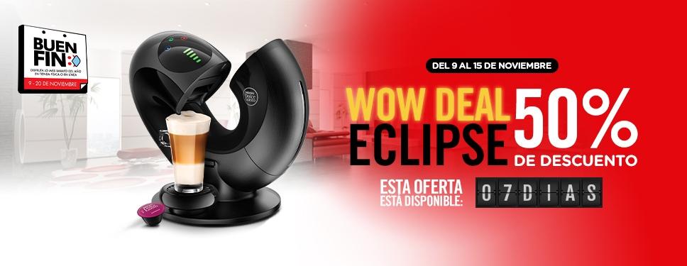 Dolce gusto Maquina Eclipse 50% descuento + 10% desc pagando con mercado pago