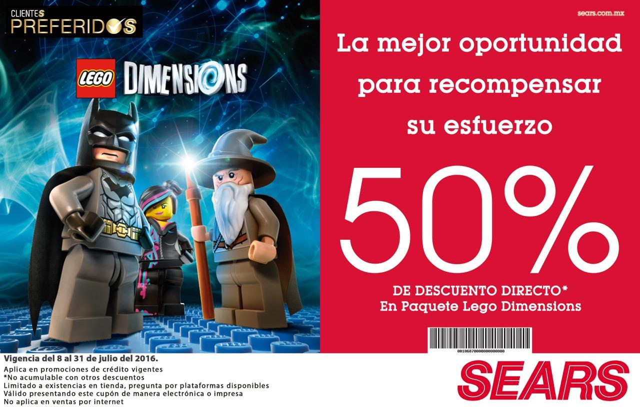 Sears: 50%  de descuento en Lego Dimensions