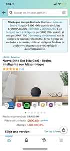 Amazon: Echo Dot 4 + Foco inteligente o Smart Plug