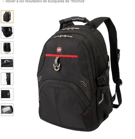 Amazon: SwissGear mochila para laptop con correa de velcro de cierre seguro SA3183