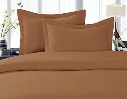 Amazon: Juego de Sábanas Elegant Comfort 1500 Hilos Calidad Egipcia 3 piezas King Size Color Café