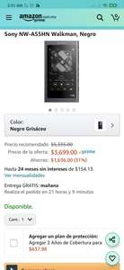 Amazon: reproductor Sony nw A55