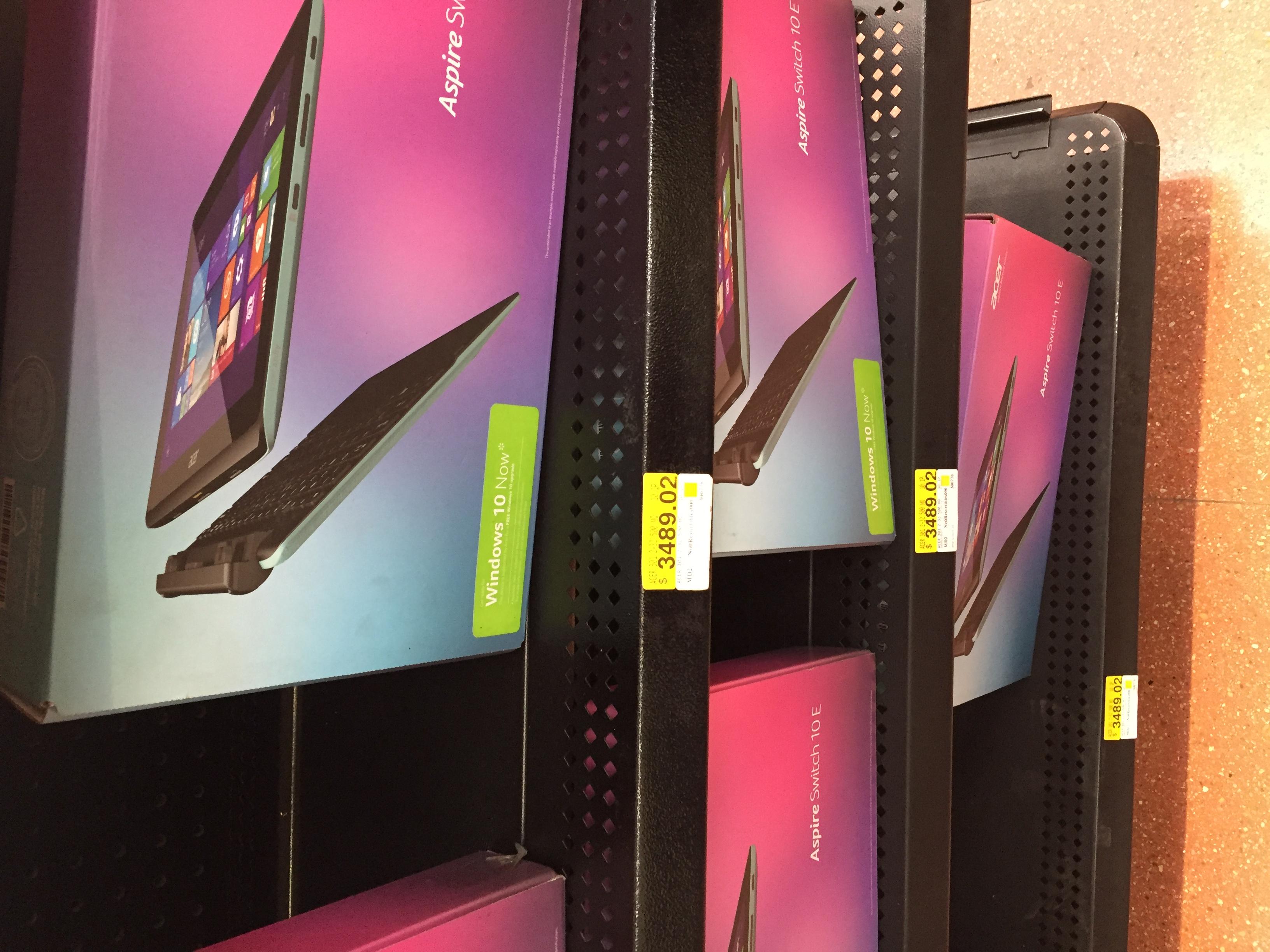 Walmart Cuajimalpa:  Pc- Tablet Aspire Switch 10e