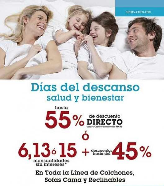 Sears: hasta 45% de descuento y 15 MSI en colchones, sofacamas y reclinables