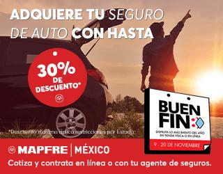 Mapfre: 30% de descuento en pólizas de auto | Buen Fin