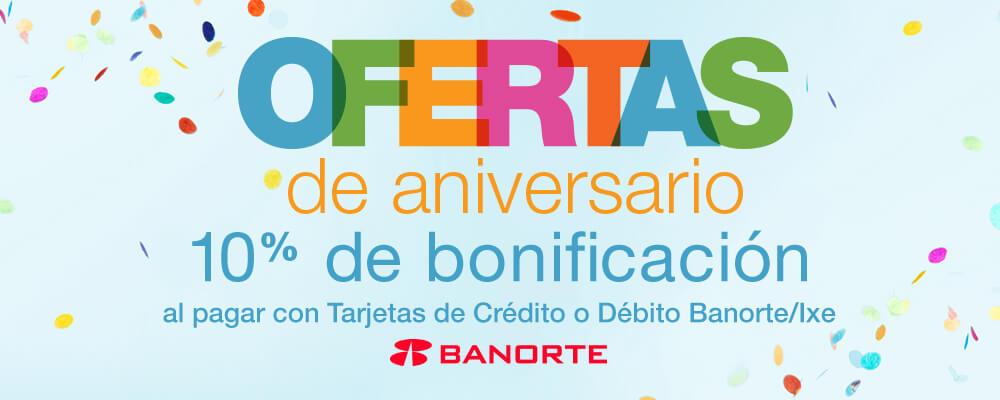 Amazon MX y Banorte: 10% de bonificación en toda la tienda por aniversario débito y crédito
