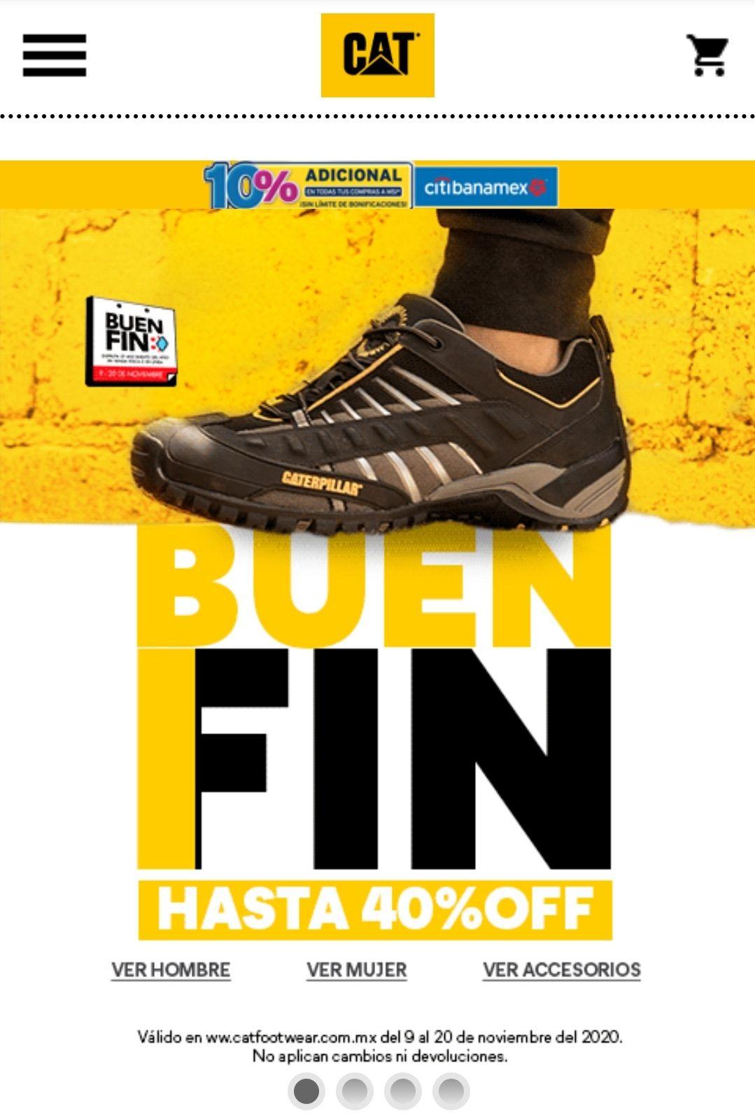 Catfootwear: hasta el 40% de descuento + 10% adicional msi citibanamex