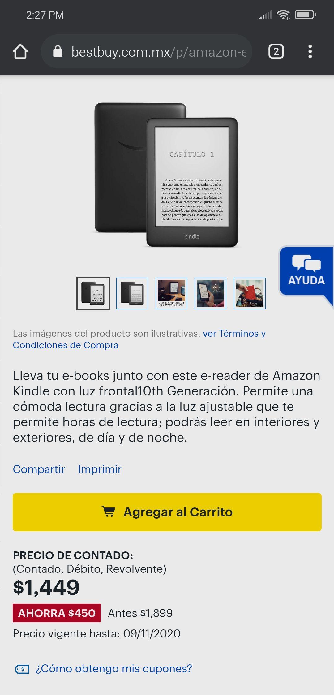Best Buy: E-reader Kindle 8GB