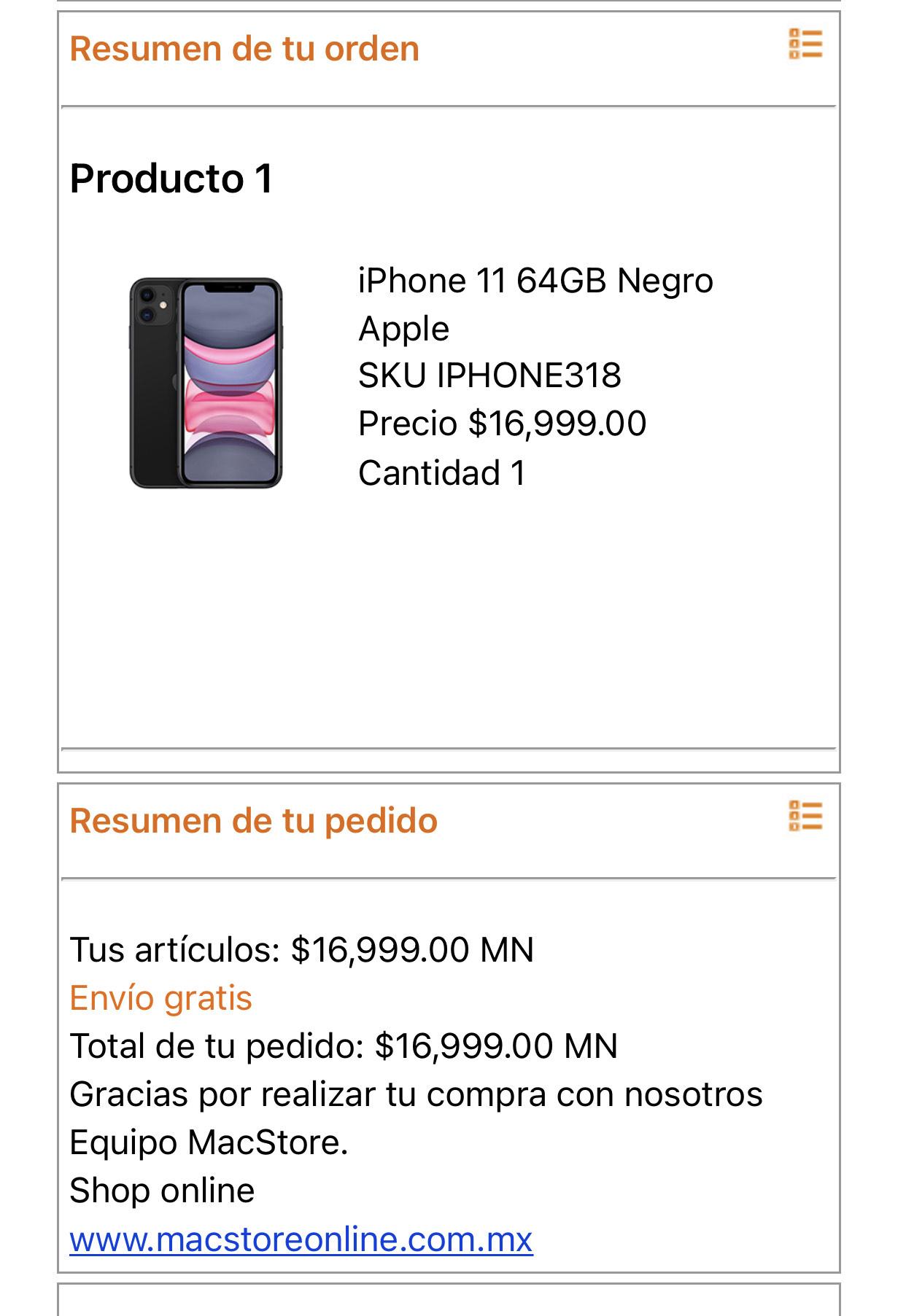 iPhone 11 64GB con HSBC MacStore