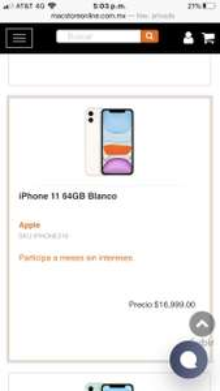 Macstore: Iphone 11 64gb con Banorte
