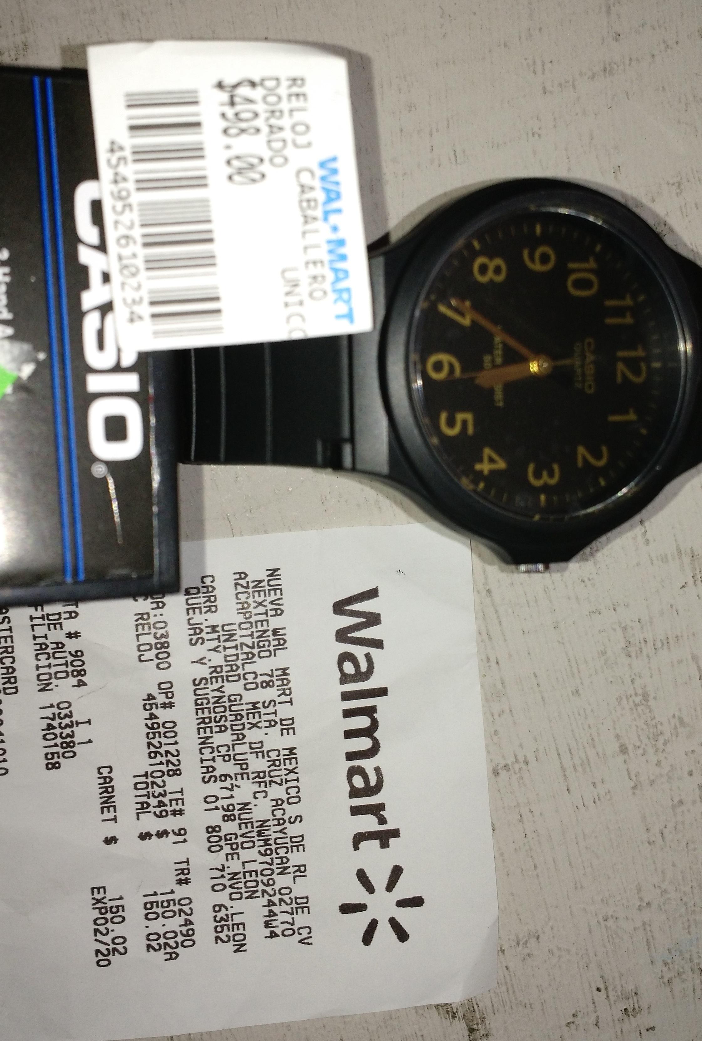 Walmart San sebastian Gpe,N.L. : Reloj Casio  $ 150.02