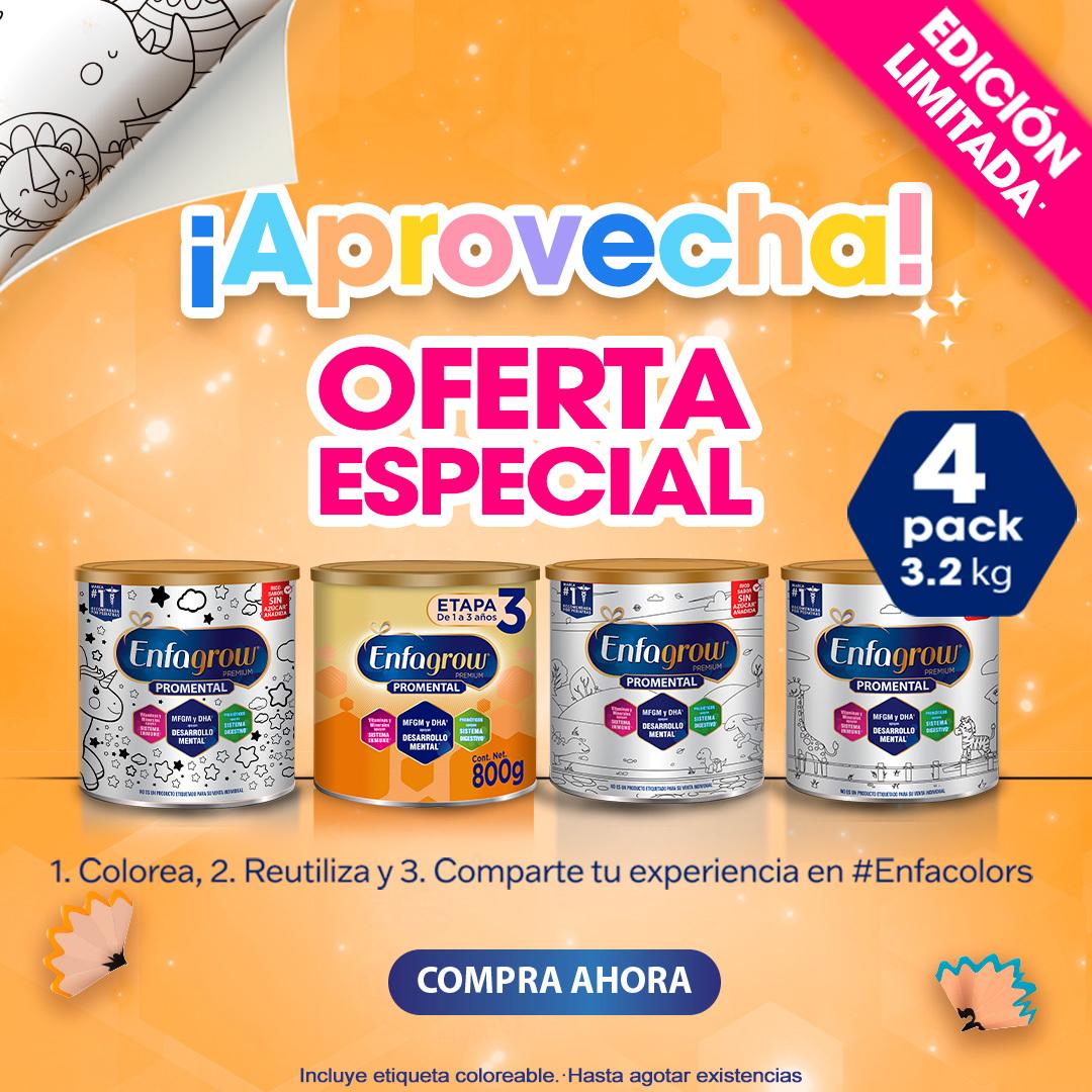 Enfagrow Edición Especial -20% de Descuento, Paquete de 4 Latas