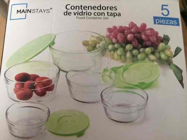 Bodega Aurrerá: Set de contenedores de vidrio