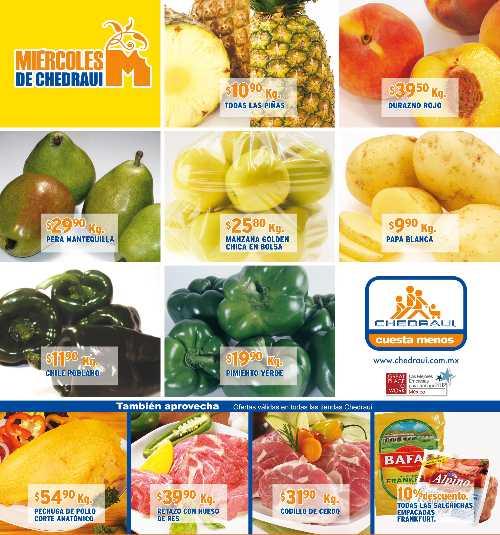 Miércoles de frutas y verduras Chedraui octubre 3: aguacate $18.90, chayote $4.90 y más
