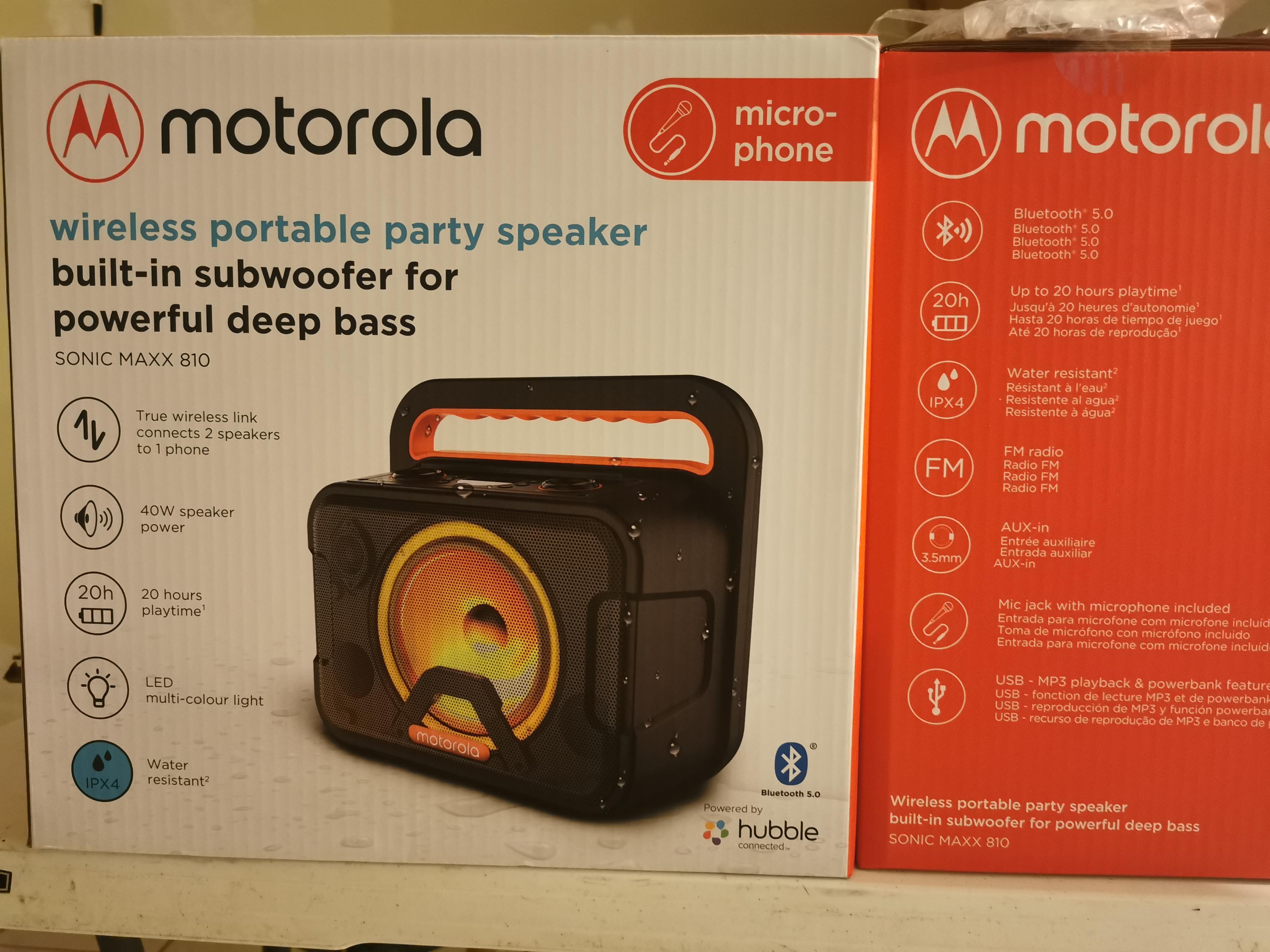 Walmart Bocina Motorola Maxx810 $1296