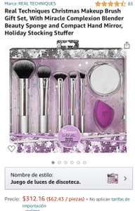 Amazon: Real Techniques Christmas Makeup Brush Gift Set, With Miracle Complexion Blender Beauty Sponge and Compact Hand Mirror