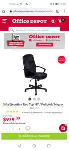 Office Depot: Silla ejecutiva red top, color negro.