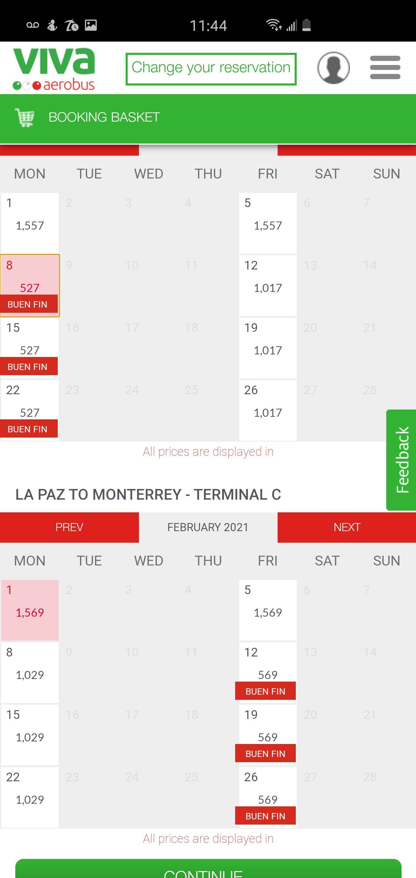 Vivaerobus: Vuelo redondo mty-la paz en febrero ya con impuestos incluidos (tarifa zero)
